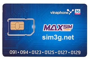 Sim 3G Vinaphone ezCom 120Gb/tháng
