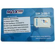 Sim 3G Vinaphone Ezcom 108Gb tốc độ cao