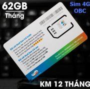 Sim 3G/4G Viettel 62Gb/tháng dung lượng lớn